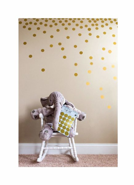 Metallic Gold Wall Decals by Josephine on Caffeine
