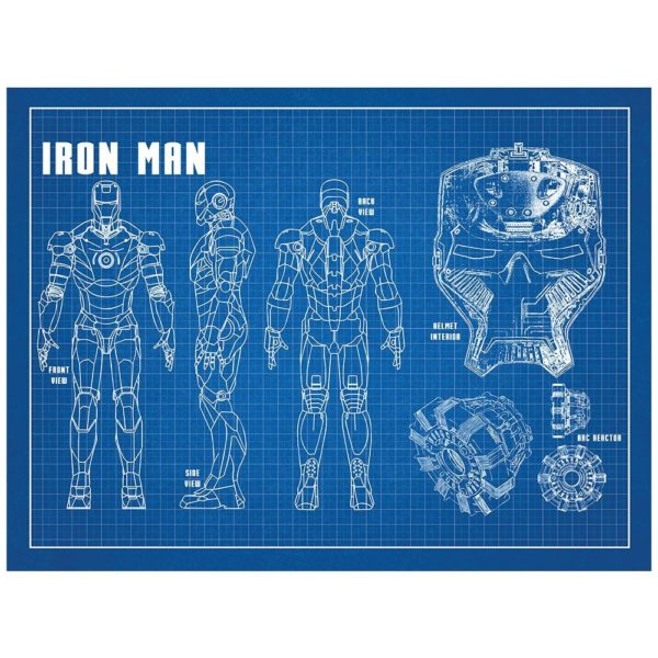 Iron Man Blueprint by Inked and Screened