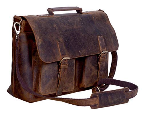 KomalC Retro Leather Messenger Bag