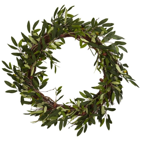 Olive Branch Wreath by Nearly Natural