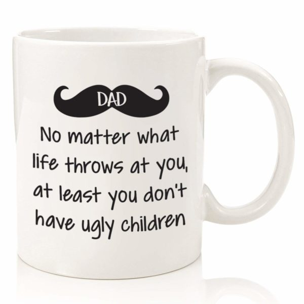 No Ugly Children Dad Mustache Mug