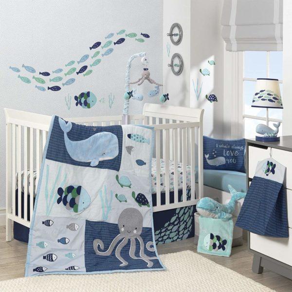 Lambs & Ivy Oceania Baby Crib Bedding Set