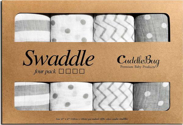 Muslin Swaddle Blankets by CuddleBug