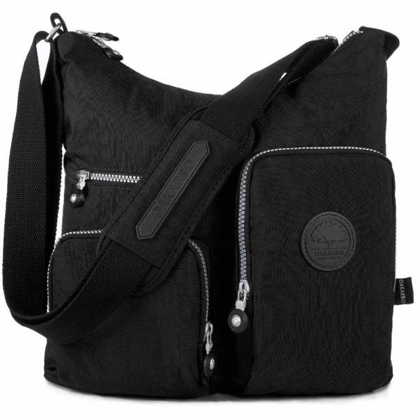 Oakarbo Nylon Multi-Pocket Crossbody Bag
