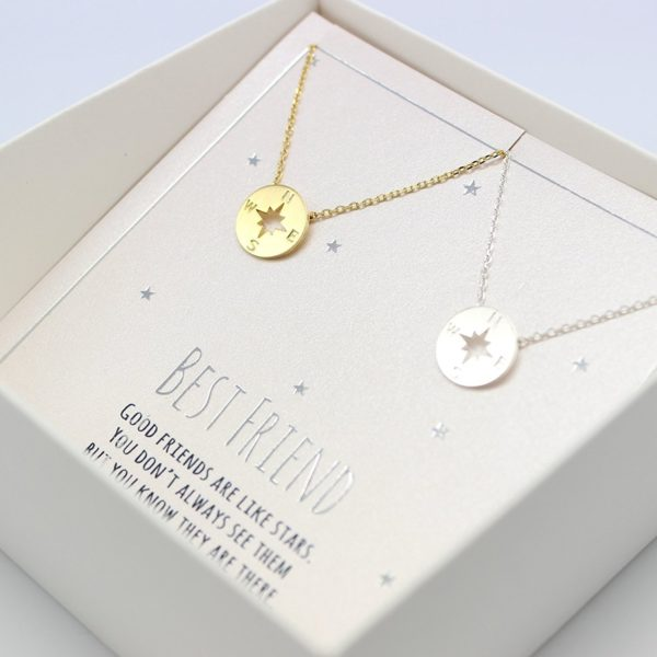 Dianpearl Compass Necklace