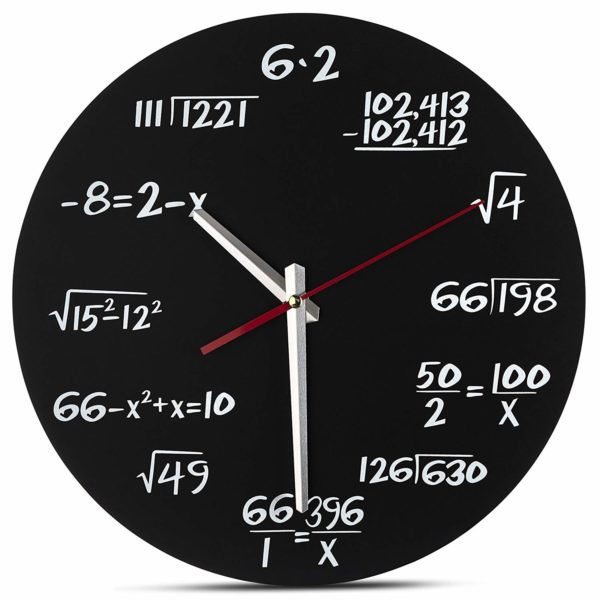 Math Wall Clock by Decodyne