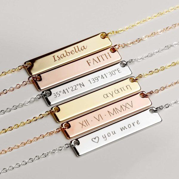 Custom Engraved Necklaces by Mignonandmignon