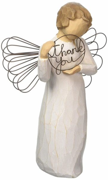 Thank You Angel Sculpture by Willow Tree