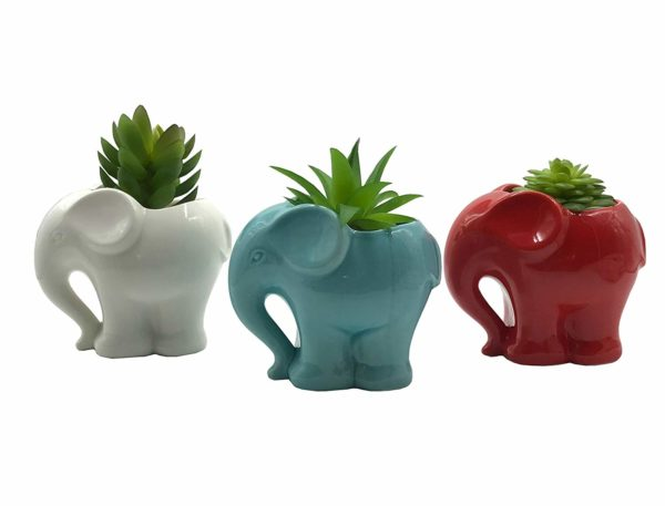 3 PC Set Animal Planters by Cuteforyou
