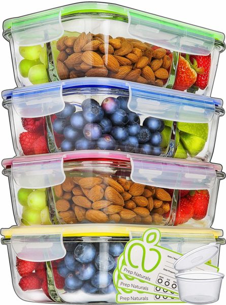 Glass Meal Containers by Prep Naturals