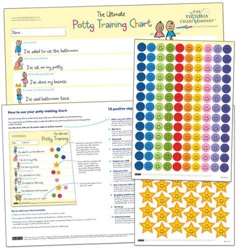 Potty Training Reward Chart by The Victoria Chart Company