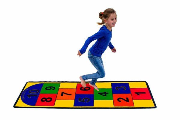 Hopscotch Game Rug for Playroom