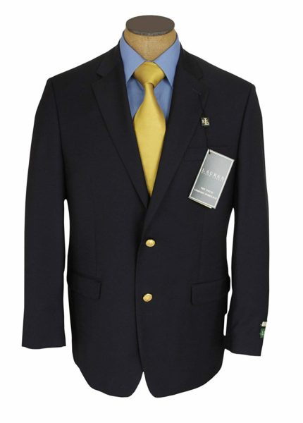Ralph Lauren Men's 2 Button Navy Blue Blazer