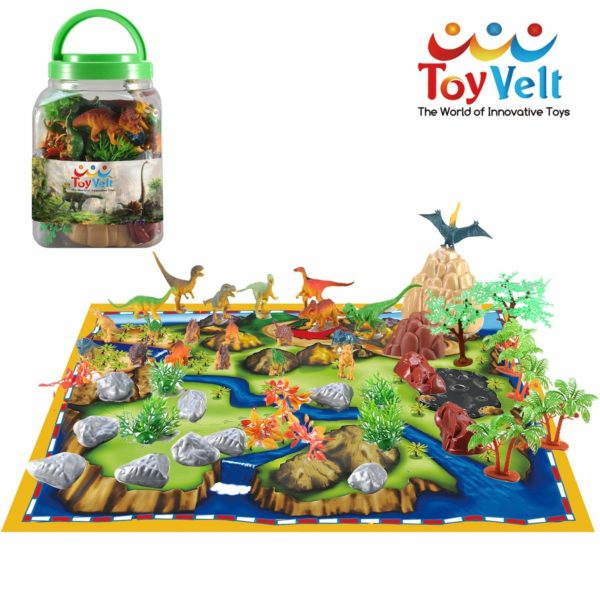 50 Piece Dinosaur Play Set