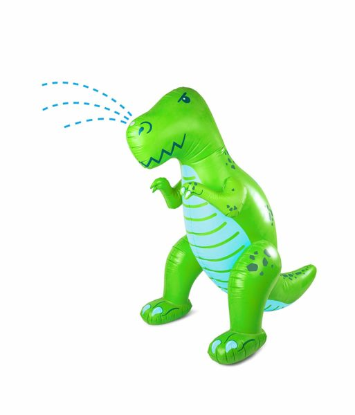 Inflatable Green Dinosaur Yard Summer Sprinkler