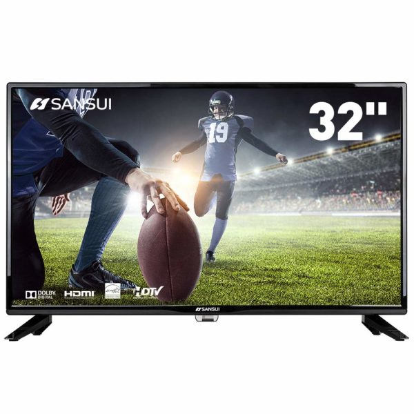 "SANSUI TV LED Televisions 32"" 720p TV with Flat Screen TV, HDMI PCA Input High Definition and Widescreen Monitor Display"