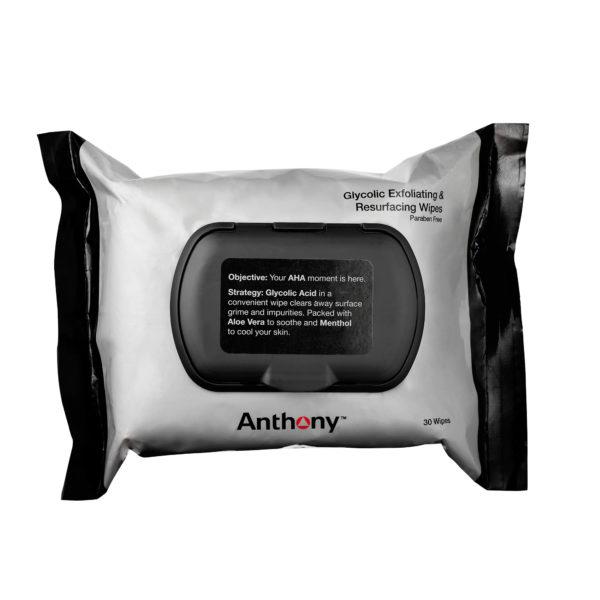 ANTHONY Glycolic Exfoliating & Resurfacing Wipes