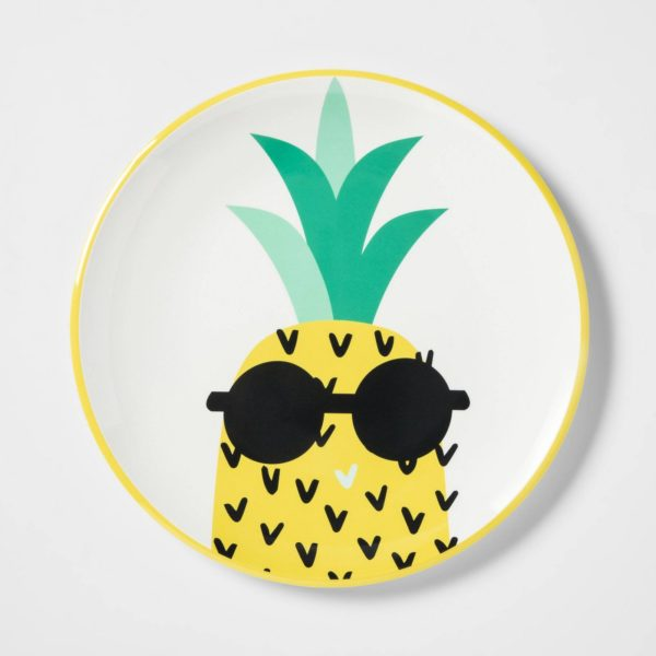 "10.4"" Plastic Pineapple Dinner Plate"