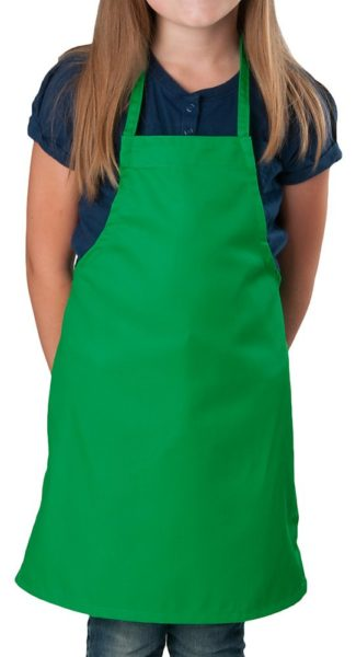 2 Pack - Kelly Green Kids Apron, Medium Bib