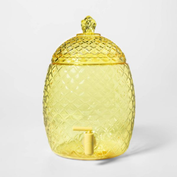 2gal Plastic Pineapple Shaped Beverage Dispenser