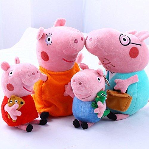 "4Pcs Piggy Pig Family Doll Stuffed Toy 12"""