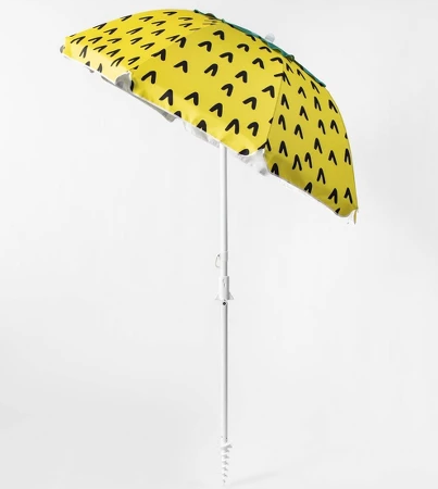 6' Pineapple Beach Umbrella Yellow - Sun Squad™
