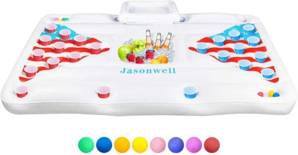 Jasonwell Beer Pong Pool Float