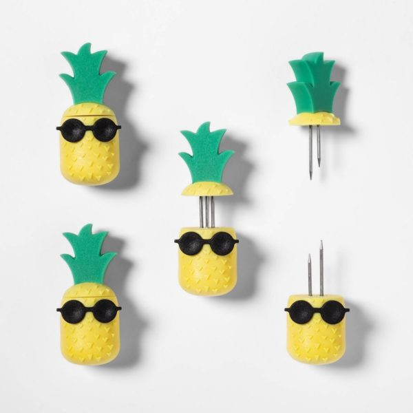 8pk Pineapple Corn Holders Yellow - Sun Squad™