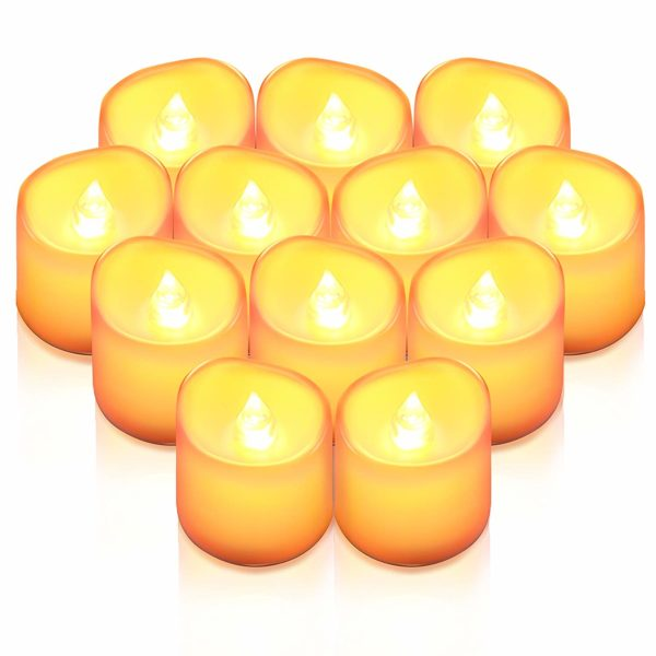 AMIR Flameless Candles, 12 PCS LED Tea Light Candles
