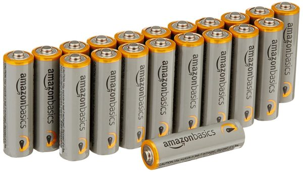 AmazonBasics AA Performance Alkaline Batteries (20-Pack)