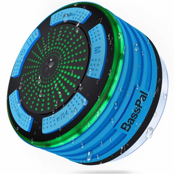 BassPal Shower Speaker Waterpoof IPX7