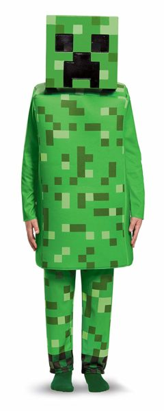 Creeper Deluxe Minecraft Costume, Green