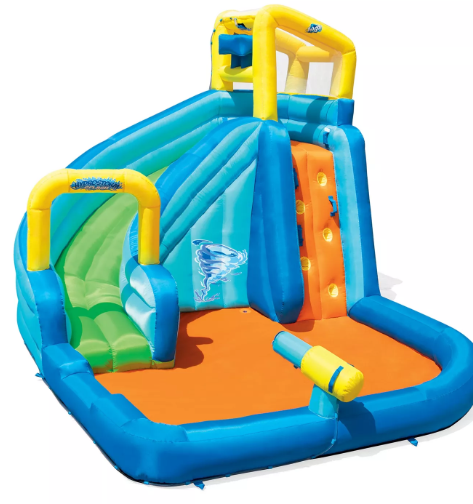 H2OGO! Hydrostorm Splash Kids Inflatable Slide Water Park