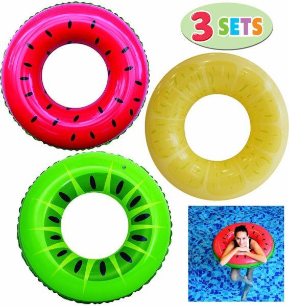 Inflatable Swim Tube Raft (3 Pack)