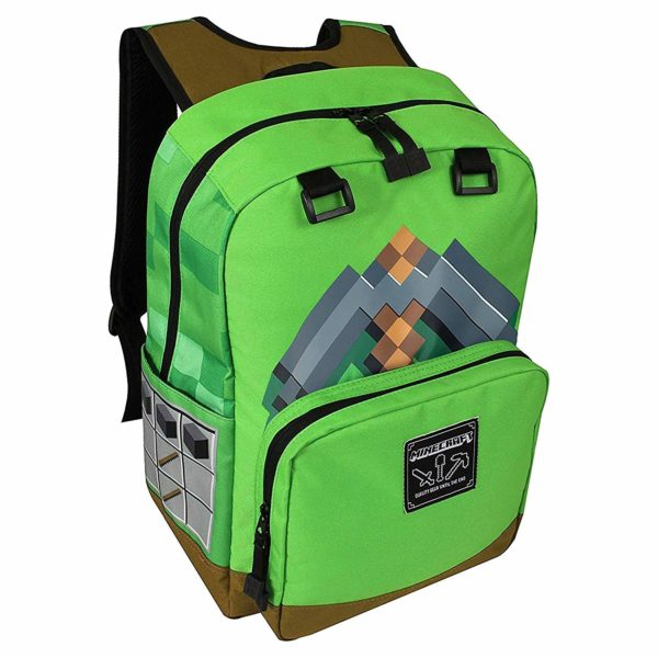 JINX Minecraft Pickaxe Adventure Kids Backpack