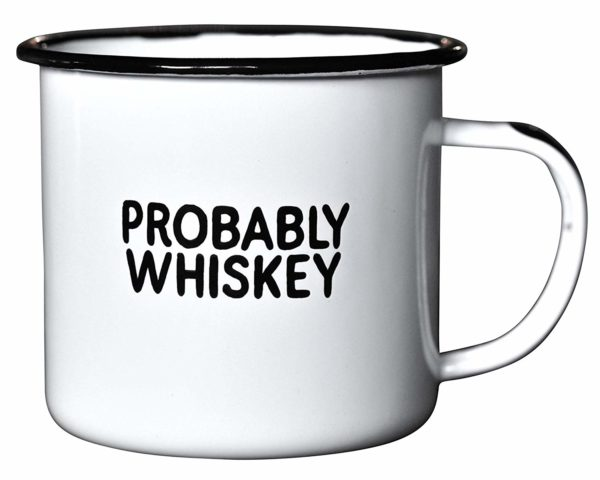 "PROBABLY WHISKEY | Enamel ""Coffee"" Mug"