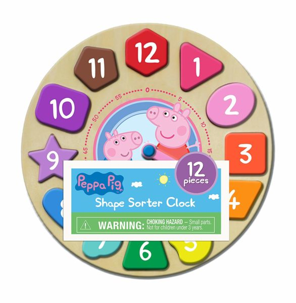 Peppa Pig Shape Sorter Clock Puzzle