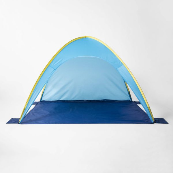 Pop up Beach Shelter Blue/Yellow