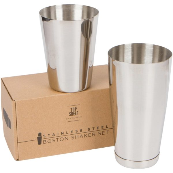 Premium Cocktail Shaker Set: Two-Piece Pro Boston Shaker Set