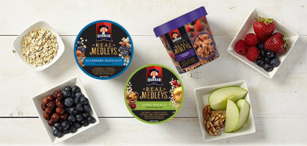 Quaker Real Medley Instant Oatmeal Variety Pack, 12 Cups