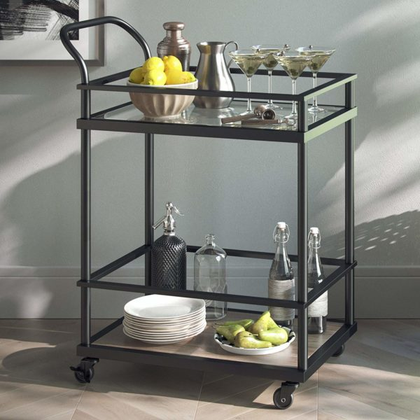 Nathan James Rolling Bar Kitchen Cart