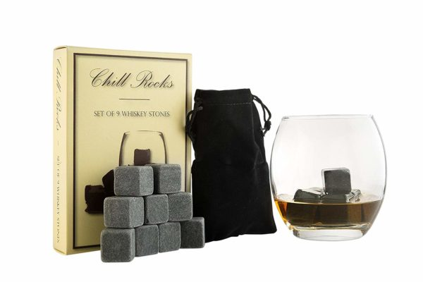Set of 9 Grey Beverage Chilling Stones