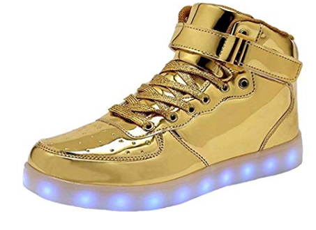 WONZOM FASHION LED Light Up Shoes USB Flashing Sneakers for Toddler/Kids