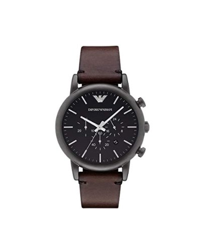 Emporio Armani Men's Brown Leather Watch
