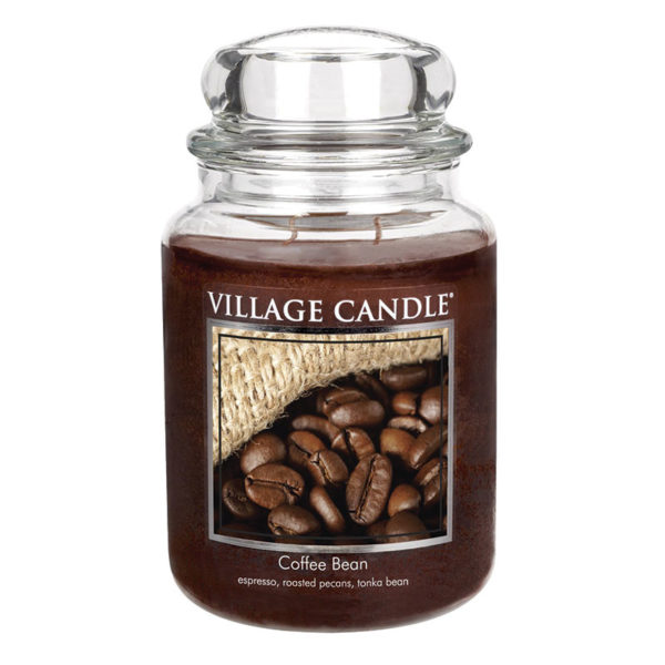 Village Candle Coffee Bean 26 oz Glass Jar Scented Candle