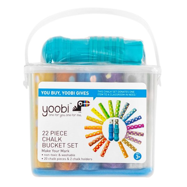 Yoobi Washable Chalk with Chalk Holders with 2 holders and 20 Chalk Piece