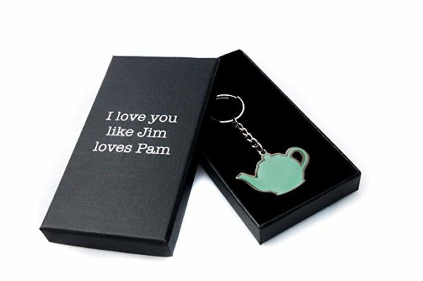 The Office Merchandise Original Pam and Jim Teapot Keychain