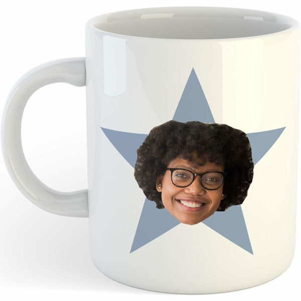 Personalized Star Face Mug