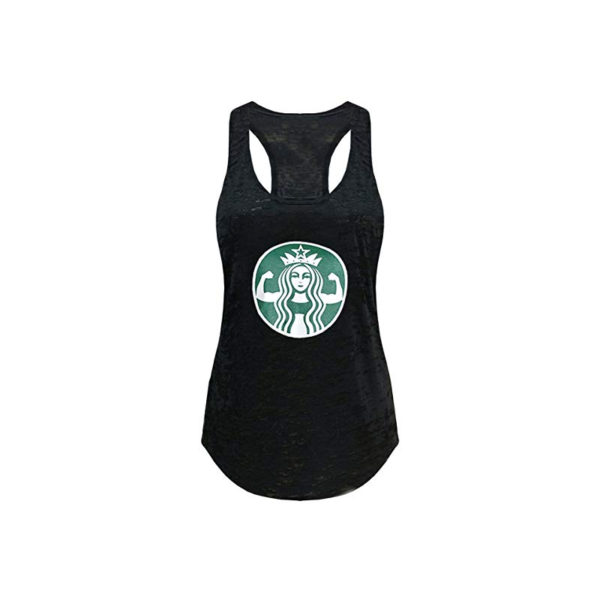 Tough Cookie's Women's Starbucks Parody Burnout Tank Top