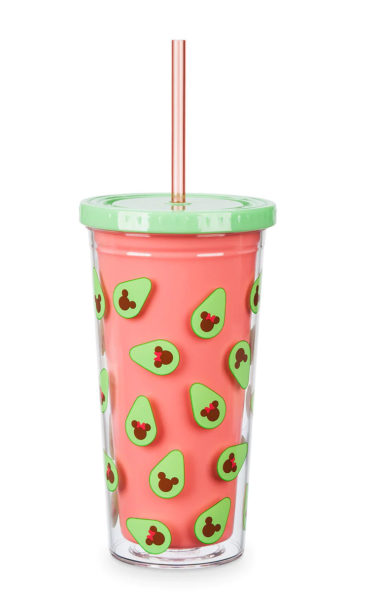 Mickey and Minnie Mouse Avocado Tumbler with Straw